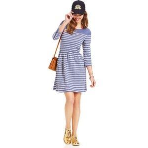 Maison Jules Heathered Blue Striped Dress